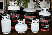 propane tanks of various sizes